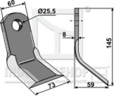 Schraube M16 X1.5 X 90  SW27 mm für Howard Mulcher