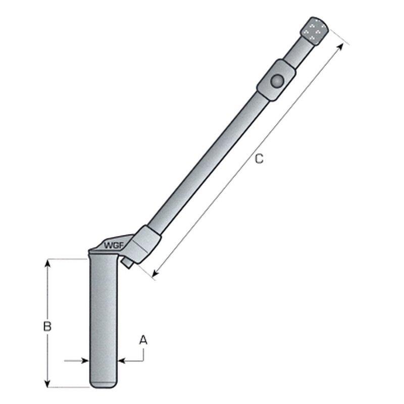 Schlepper und Anhänger Einhand-Sicherungsbolzen//Kupplungsbolzen gerade 250mm f